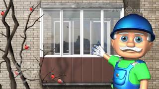 "видео Застеклить балкон, цена в компании ""OKNA-KIEV"""