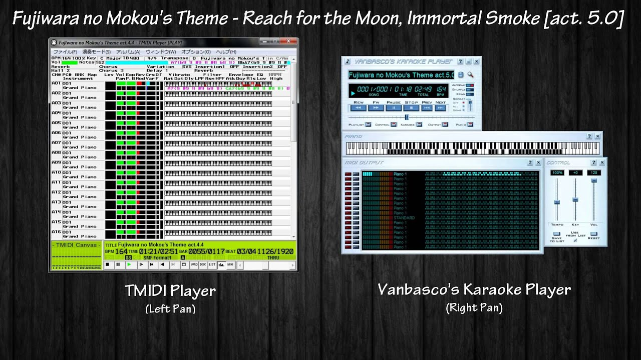 「Black MIDI」TMIDI Player vs  Vanbasco's Karaoke Player