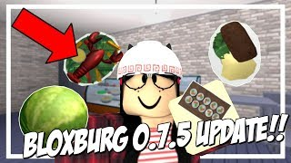 UPDATE! NEW FOOD ADDED, KITCHEN APPLIANCES, & MORE! (ROBLOX BLOXBURG 0.7.5)