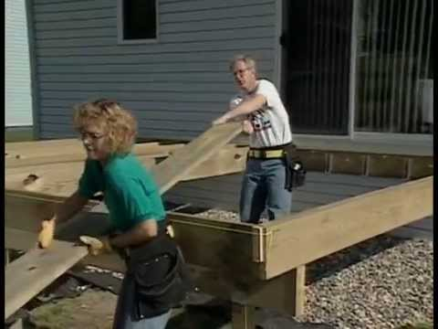 Framing A Deck Youtube