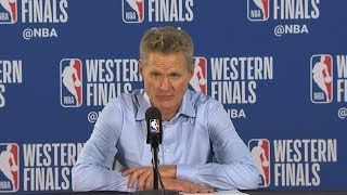 Steve Kerr Postgame Interview - Game 3 | Warriors vs Blazers | 2019 NBA Playoffs