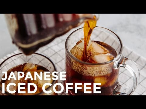 How To Make Japanese Iced Coffee (Recipe) アイスコーヒの作り方 (レシピ)
