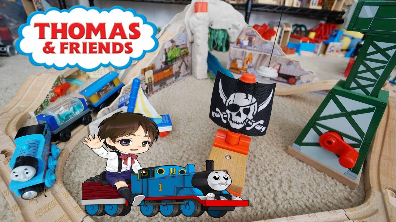 Thomas and Friends Wooden Railway Pirate Cove Discovery Set Toy ...