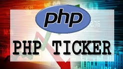 bitcoin ticker PHP tutorial from btc-e API using json+php