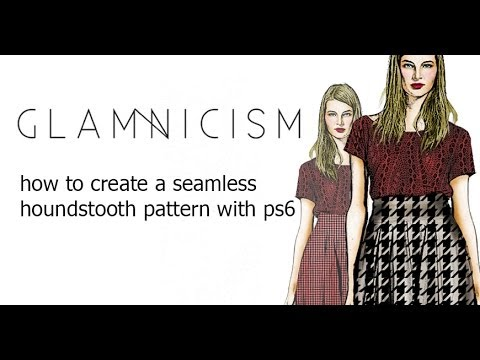 how to create a seamless houndstooth pattern with ps6