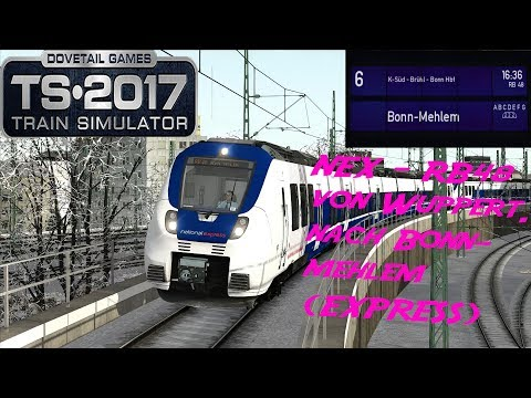 TRAIN SIMULATOR 2017 ☆[BR 442-NEX]NationalExpress RB48(RB27849) nach Bonn-Mehlem|(60FPS)trainTeacher