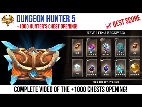 Dungeon Hunter 5: 1000+ Hunter's Chests Opening - Android Gameplay Full HD