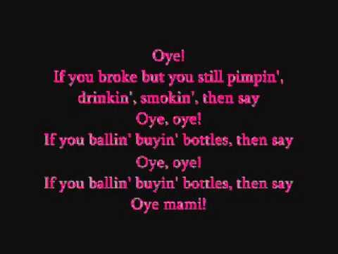 Pitbull-Oye Lyrics ♥