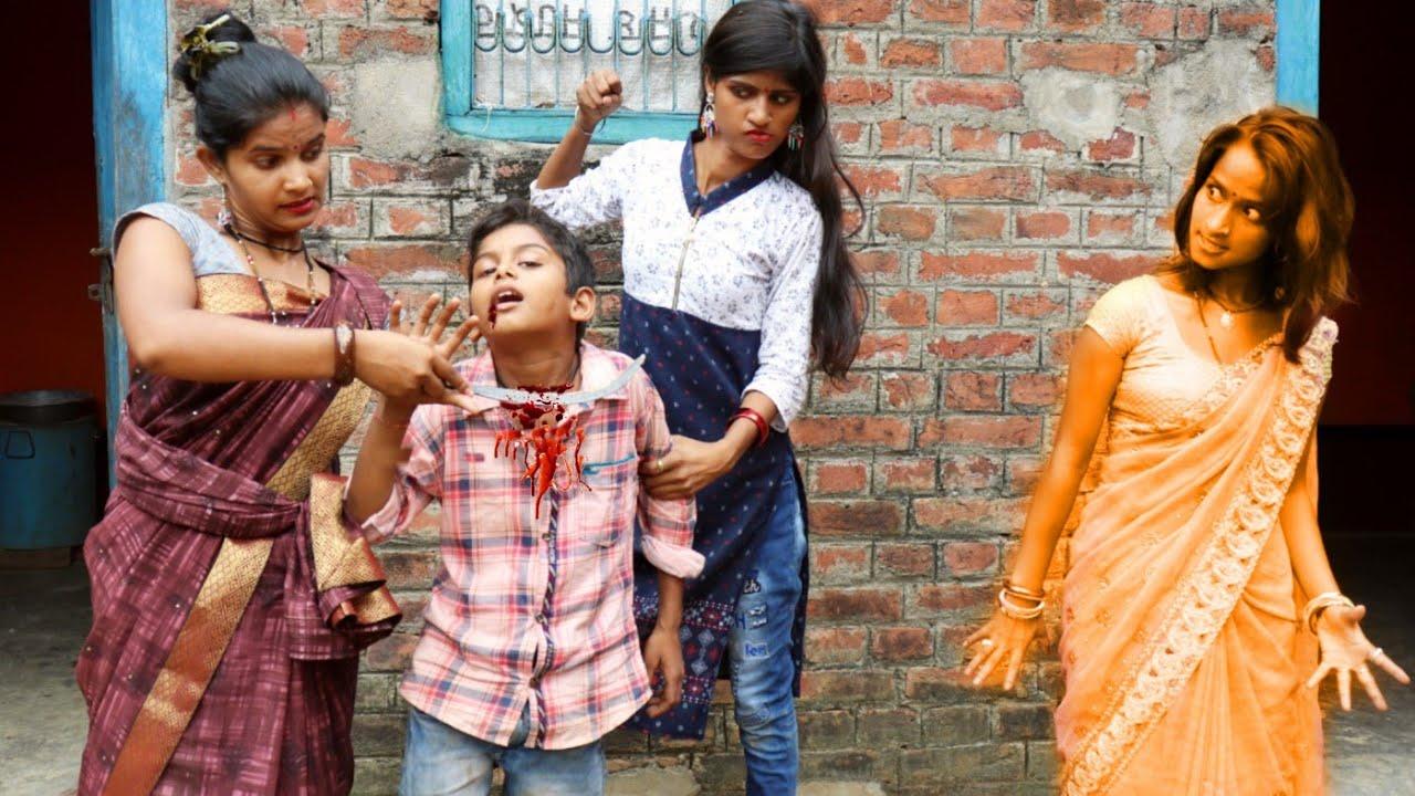 सौतेली माँ हंसुआ से गला रेत देती है, तो कैसे मरी हुई माँ भूत बनकर बदला लेती है।  Bhojpuriya jawan