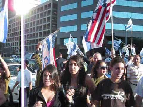 Growing Support for Israel - Rally in Westwood, Los Angeles, Jan 11, '09