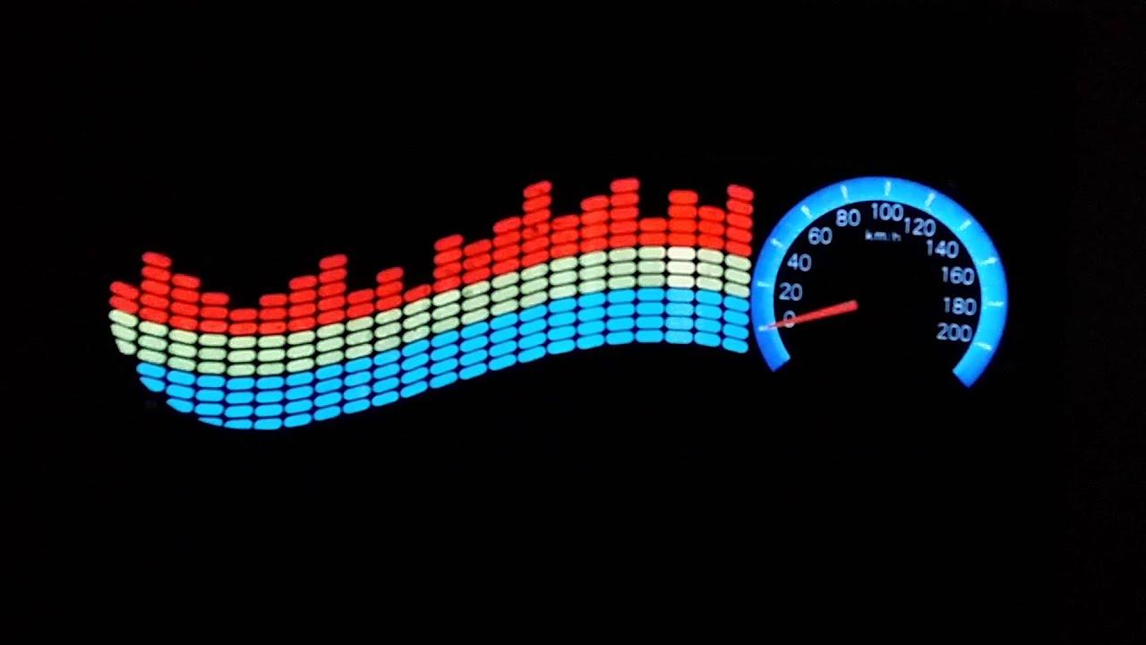 Colourful flash car sticker music rhythm led el light race car