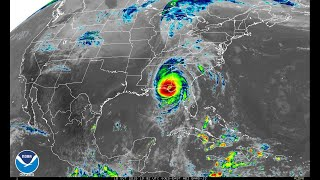 Satellite imagery of Hurricane Michael