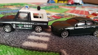 Kids video about driving Cars & Police Cars in the City for children