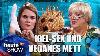 Veganen Mettigel selber machen – mit Hazel Brugger und Claudia Roth