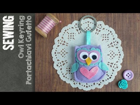 890d418b86 Gufo portachiavi - Owl Key ring - tutorial - Big Shot - YouTube