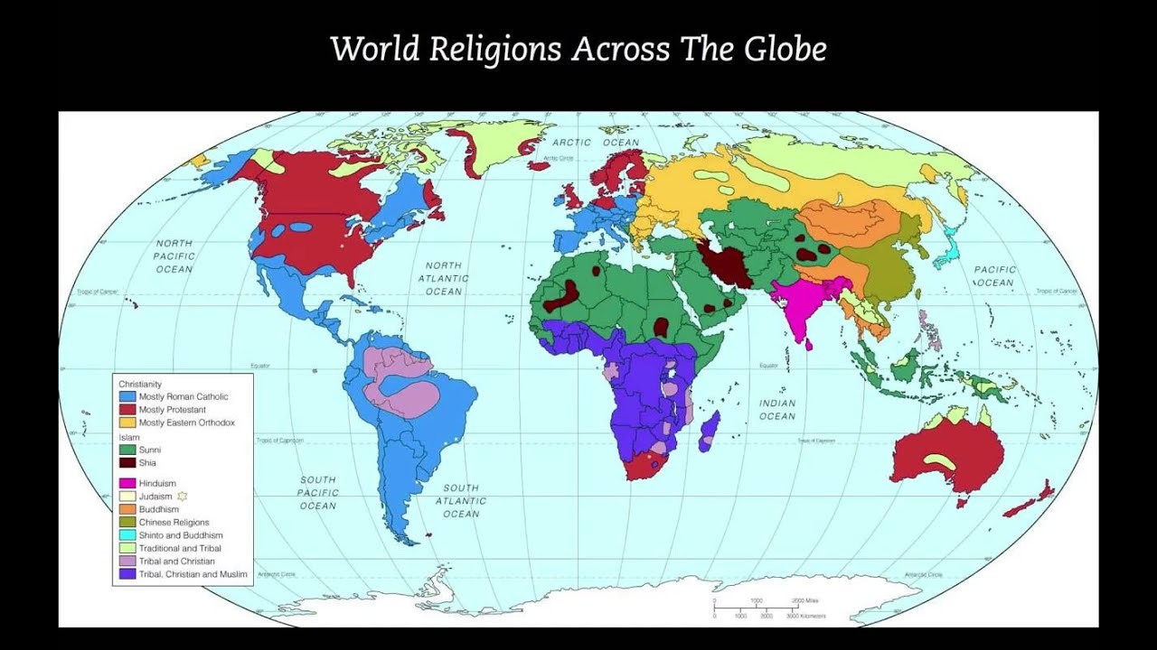 The Future Of World Religion Extended Edition YouTube - World religion interactive map
