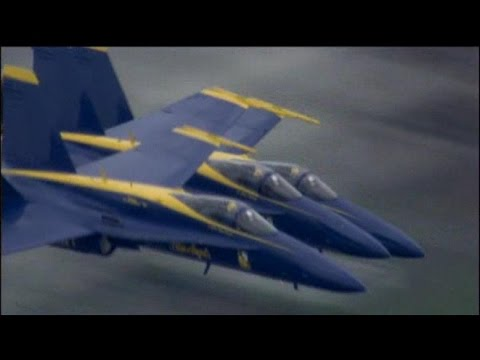 RAW: Navy's Blue Angels Fly Over Boston