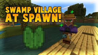 This BROKEN Seed Has SECRET Swamp Villagers At Spawn