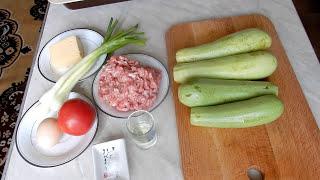 ЛОДОЧКИ из КАБАЧКОВ с фаршем и сыром запечённые в духовке