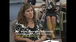 Michigan State Board of Education Meeting for August 14, 2012 - Afternoon Session