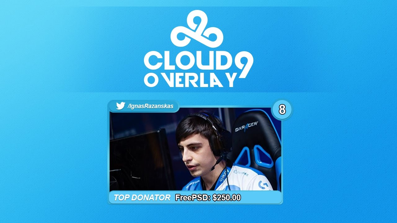 Free Twitch Overlay Template C9 Shroud Cam Psd Free
