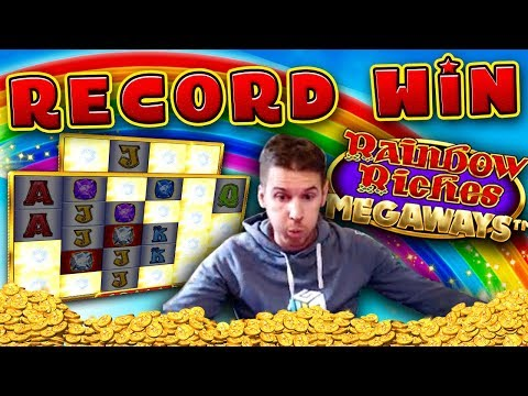 MUST SEE!!! RECORD WIN On Rainbow Riches Megaways Slot - £10 Bet!
