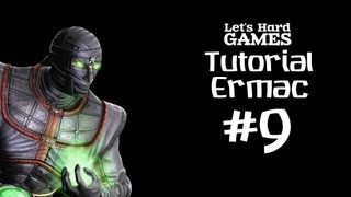Mortal Kombat 9: Komplete Edition #9 Обучение Ermac [Tutorial][Fatality][PC]