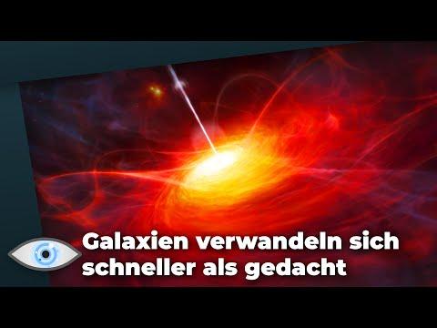 Mysteriöse Beobachtung: Galaxien verwandeln sich rasend schnell zum Quasar!