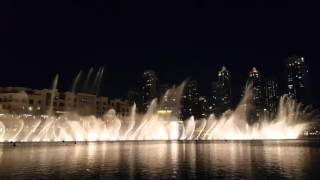 Dubai Fountain 2016 Whitney Houston 'I will always love you ' Feb 11
