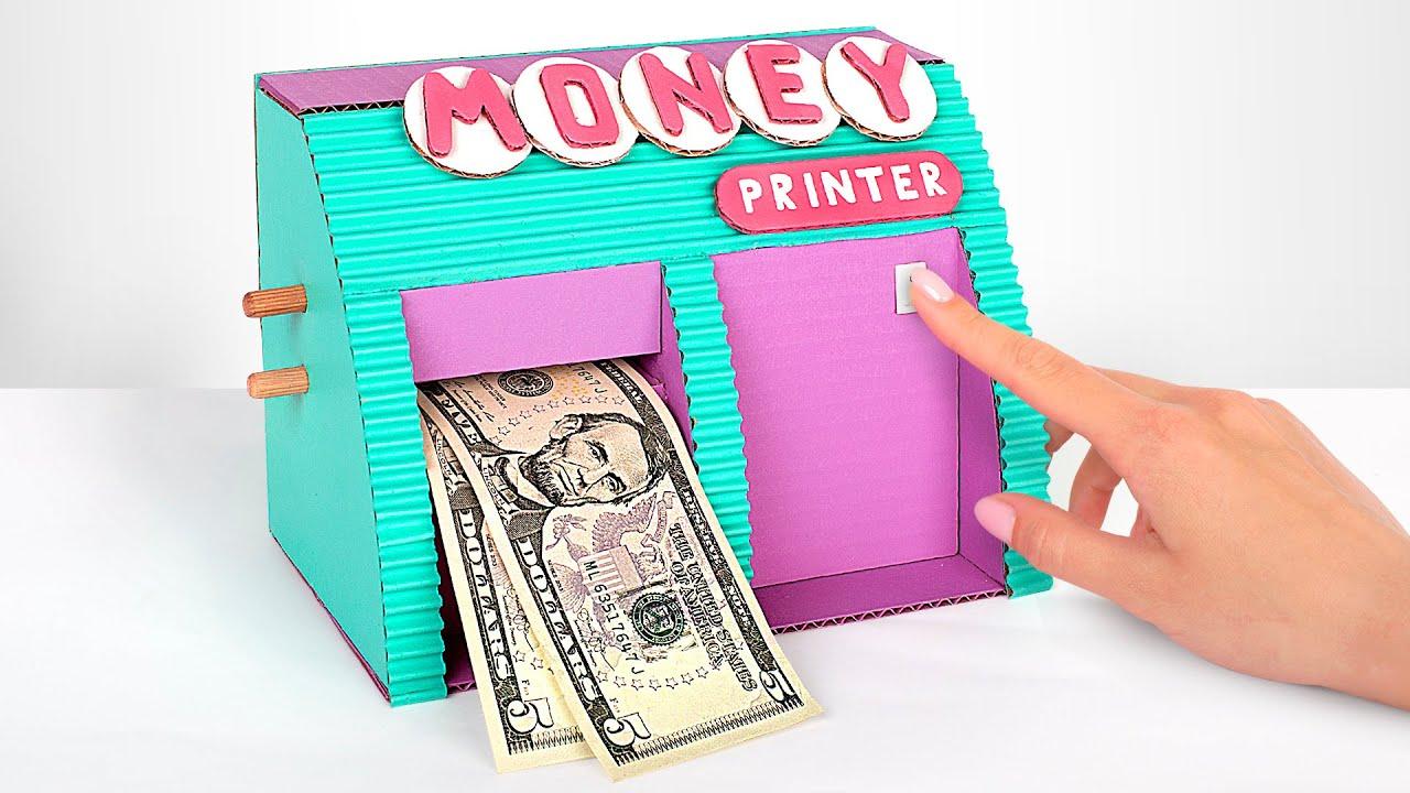 IMPRIMA O DINHEIRO! Fazendo impressoras elétricas de papelão em casa