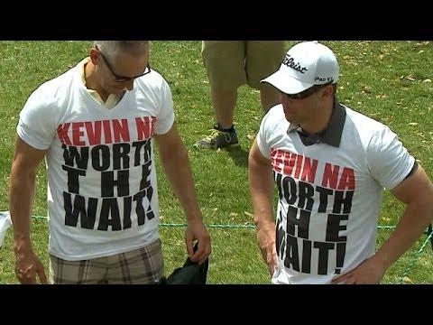 Kevin Na greets his biggest fans at Arnold Palmer Invitational