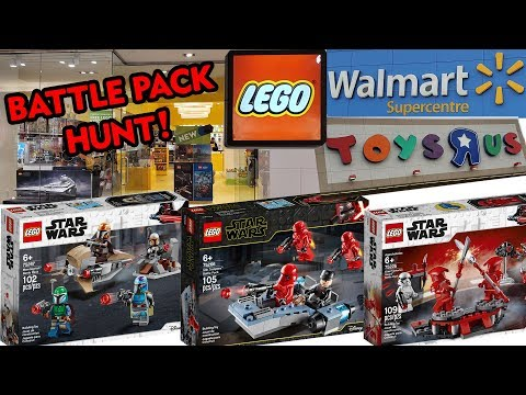 Star Wars Battle Pack Hunt At The LEGO Store, ToysRus & Walmart