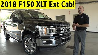2018 Ford F150 XLT Extended Cab Exterior & Interior Walkaround
