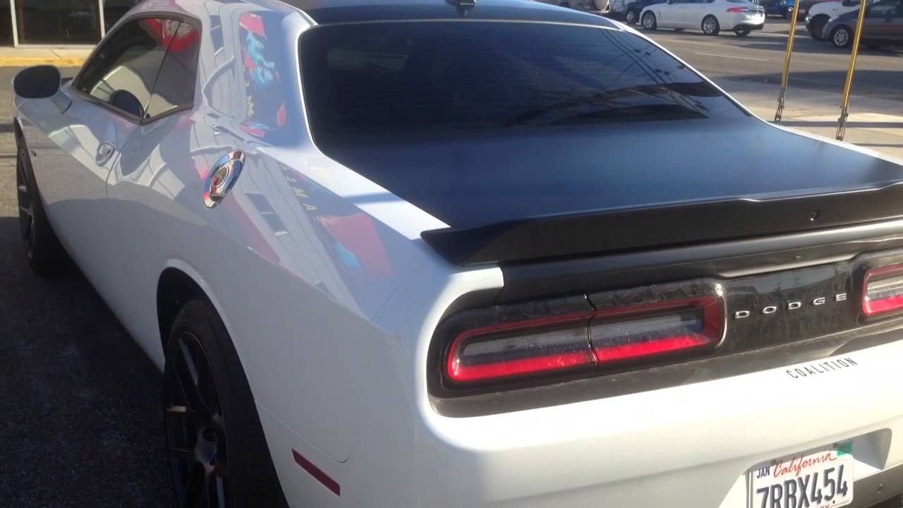 2015 Challanger Wrapped Hood Roof Trunk Los Angeles Youtube