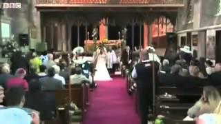 Vicar leads wedding service disco