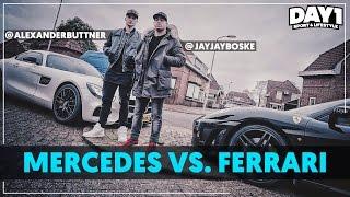 mercedes vs ferrari auto van alexander büttner day1 afl 3
