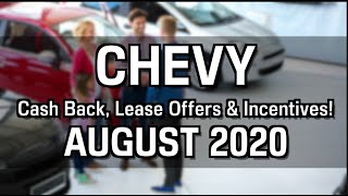 Chevy Cash Back, Lease Specials, and Financing Offers for August 2020