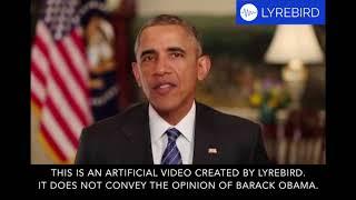 Lyrebird - Créer une copie numérique de votre voix.