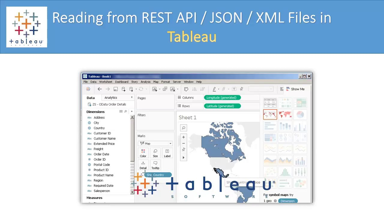 Tableau - Read from REST API / JSON File / XML File / SOAP Web Service  (Pagination, OData, OAuth)