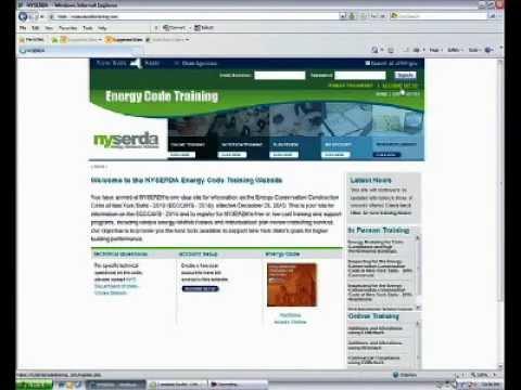 NYSERDA Energy Code Training dot COM