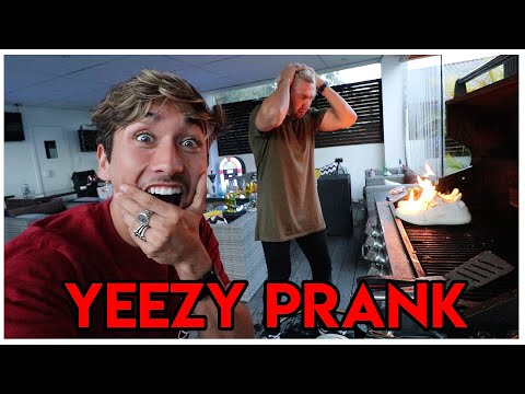 YEEZY'S ON FIRE PRANK!! ($2000 DOLLAR SHOES)