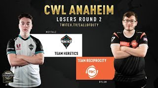 Team Heretics vs Team Reciprocity | CWL Anaheim 2019 | Losers Round 2