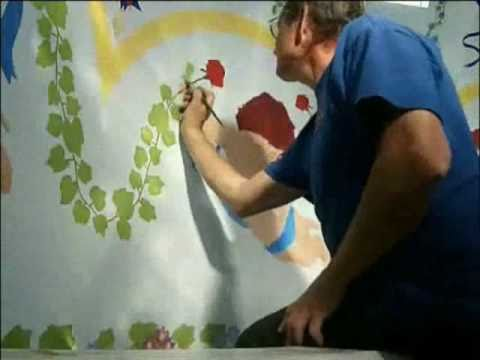 Best Ever Wall Art Graffiti Acrylic Painting Wall Paint Cherubs Grapes Grapevine Borders