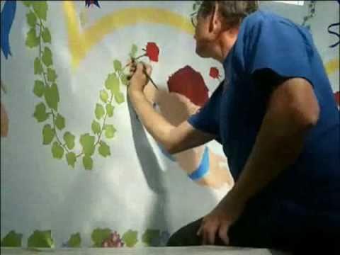best ever WALL Art graffiti Acrylic Painting wall paint cherubs