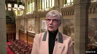 Senator Patricia Bovey discusses the Senate's war painting collection