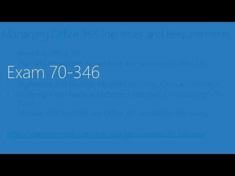 Exam 70-346: PRACTICE EXAM QUESTIONS part 1 2016-2017