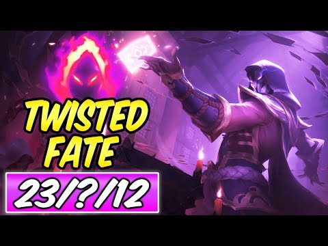 ONE CARD = ONE-SHOT FULL BURST DARK HARVEST TWISTED FATE MID 40% CDR | Build & Runes | Season 10 LoL