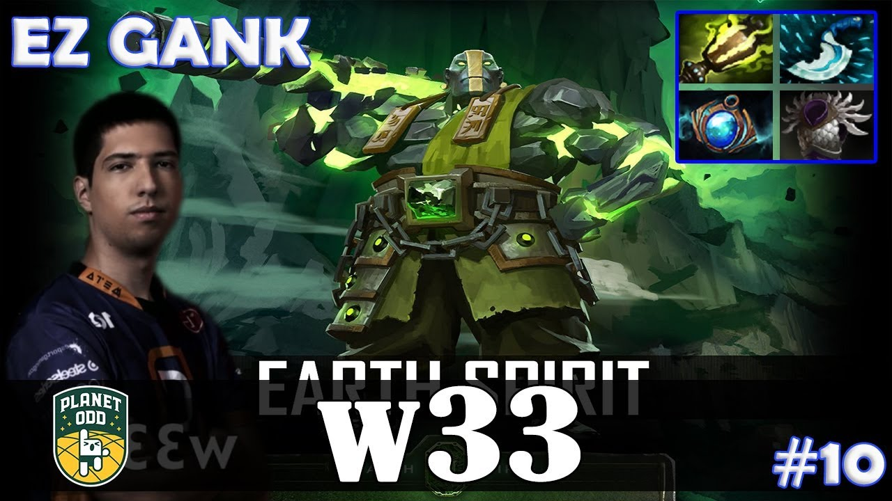 W33 Earth Spirit Roaming EZ GANK Dota 2 Pro MMR Gameplay 10 YouTube