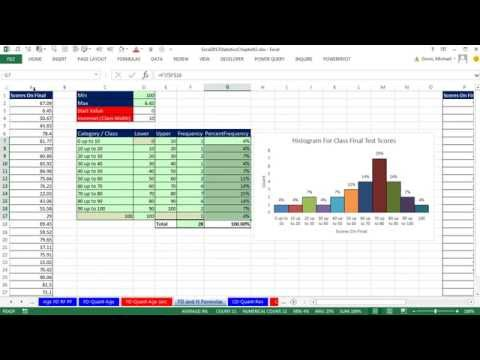 Excel 2013 Statistical Analysis #8: Frequency Distributions,