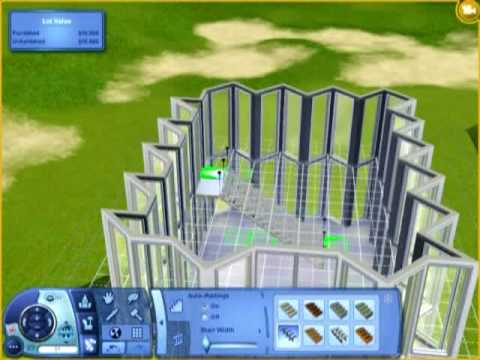 Sims 3 modern building youtube for Sims 3 salon moderne
